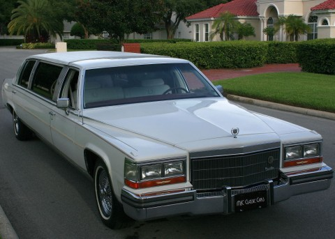 1986 Cadillac Fleetwood Brougham D'elegance Stretch Limo for sale
