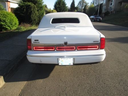 1996 Lincoln Limousine: White, Black Leather Interior