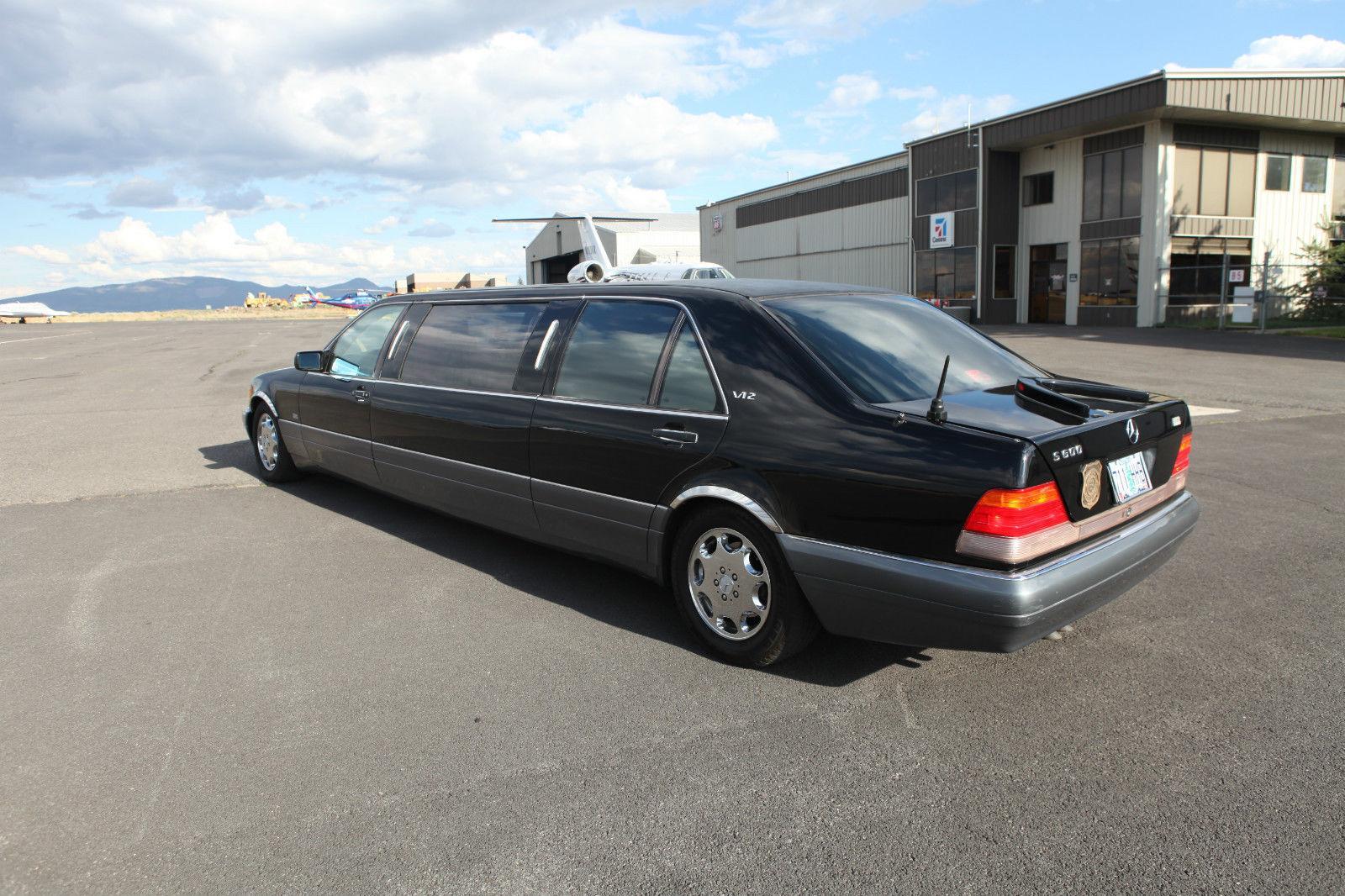 1995 mercedes benz s600 v12 limousine for sale. Black Bedroom Furniture Sets. Home Design Ideas