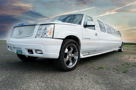 2002 Cadillac Escalade 200″ Limousine with a 5th door for sale