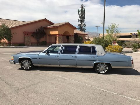 Six door 1987 Cadillac Brougham limousine for sale