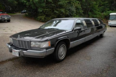 Redone interior 1996 Cadillac Brougham limousine for sale
