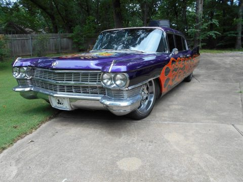 custom paint 1964 Cadillac Deville 4DR limousine for sale