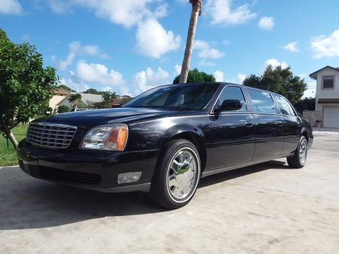 very low miles 2001 Cadillac DTS Superior LIMOUSINE for sale