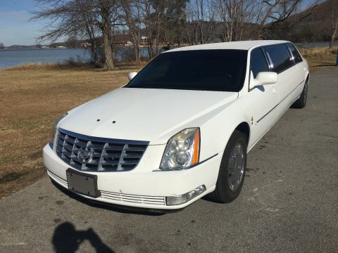 well equipped 2006 Cadillac DTS white limousine for sale