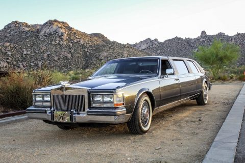 all original 1985 Cadillac Seville Custom limousine for sale