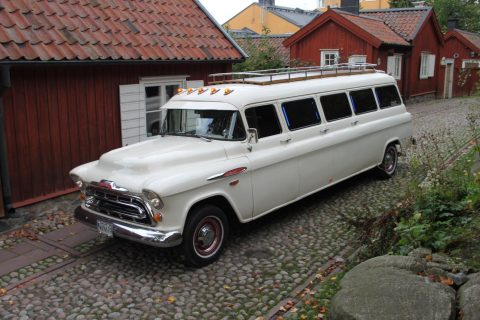 Custom made 1957 Chevrolet Suburban Limousine for sale