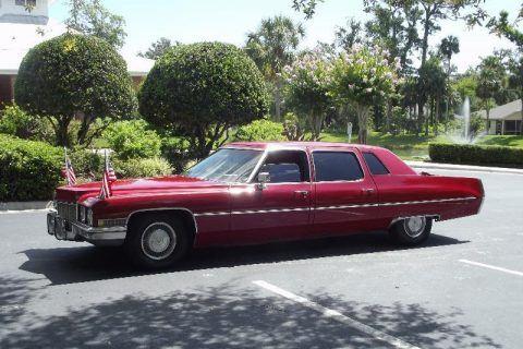 excellent 1971 Cadillac Fleetwood Limousine for sale