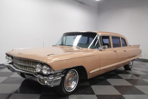 freshly rebuilt 1962 Cadillac Fleetwood 75 Sedan limousine for sale
