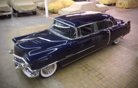 low miles 1955 Cadillac Fleetwood Model 75 limousine for sale