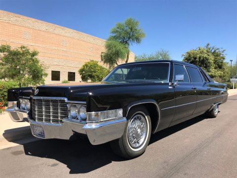 low miles 1969 Cadillac Fleetwood Series 75 Sedan Limousine for sale