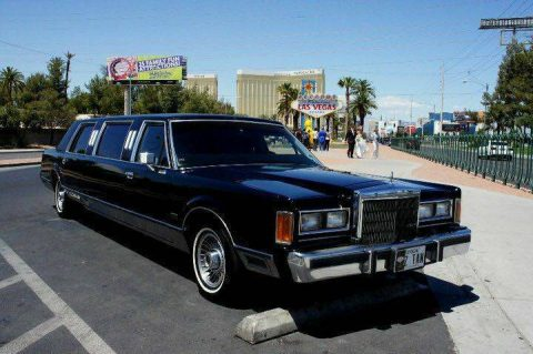 flawless 1989 Lincoln Town Car limousine for sale