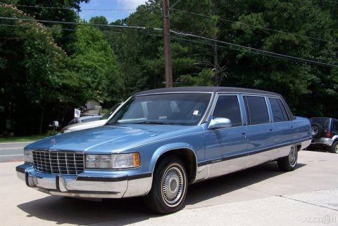 sharp 1995 Cadillac Fleetwood S&S limousine for sale