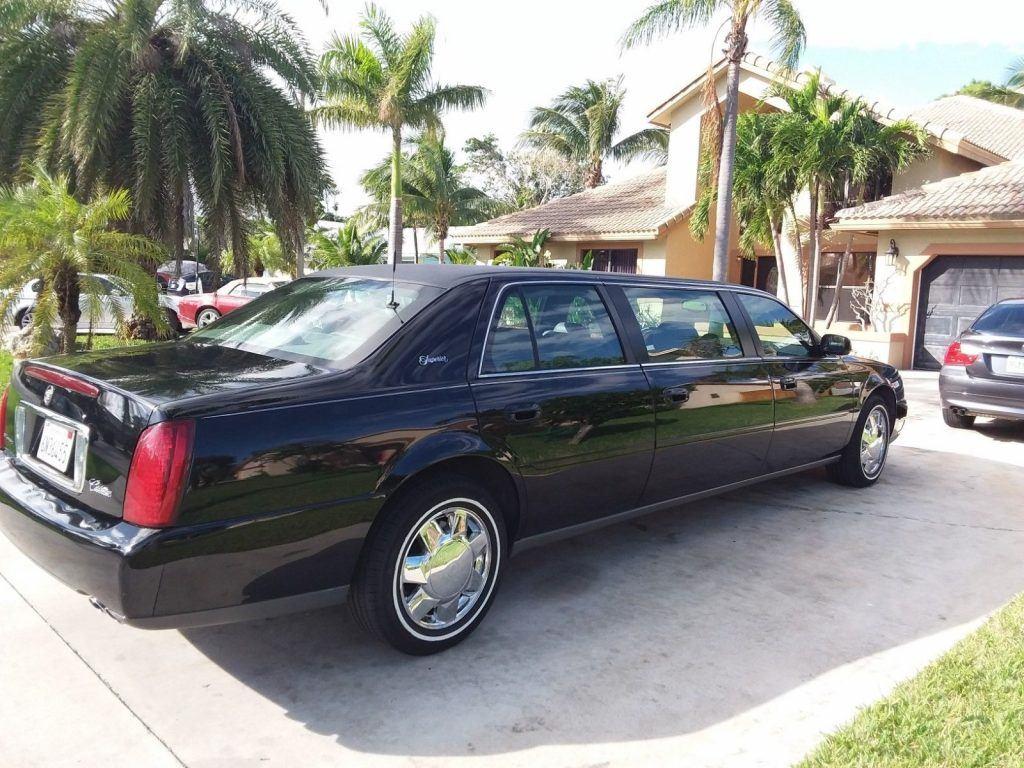 low miles 2001 Cadillac Deville Limousine