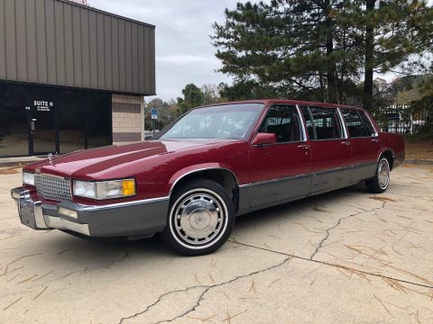 recently serviced 1990 Cadillac Deville Eureka V limousine for sale