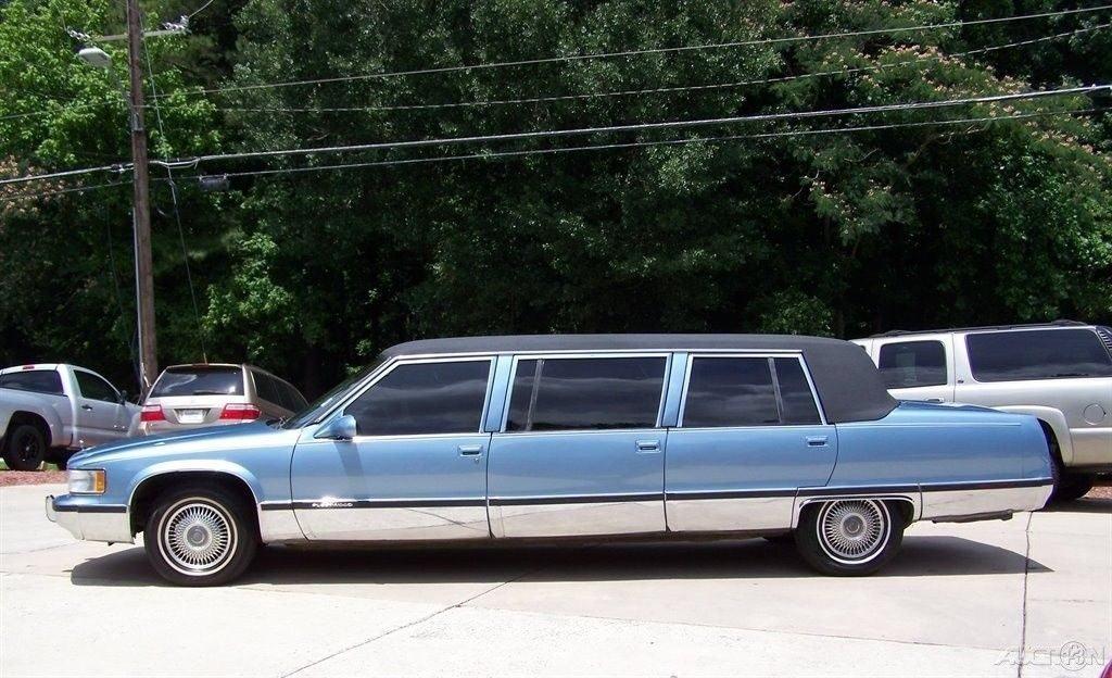 pristine 1995 Cadillac Fleetwood limousine