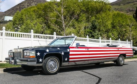 flag paint 1987 Cadillac Brougham Limousine for sale