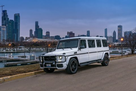 custom 2004 Mercedes Benz G Class G55 AMG limousine for sale