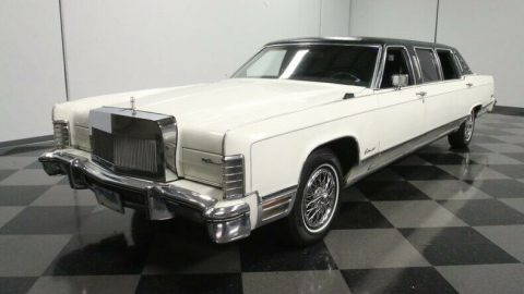 classic vintage 1975 Lincoln Continental Limousine for sale