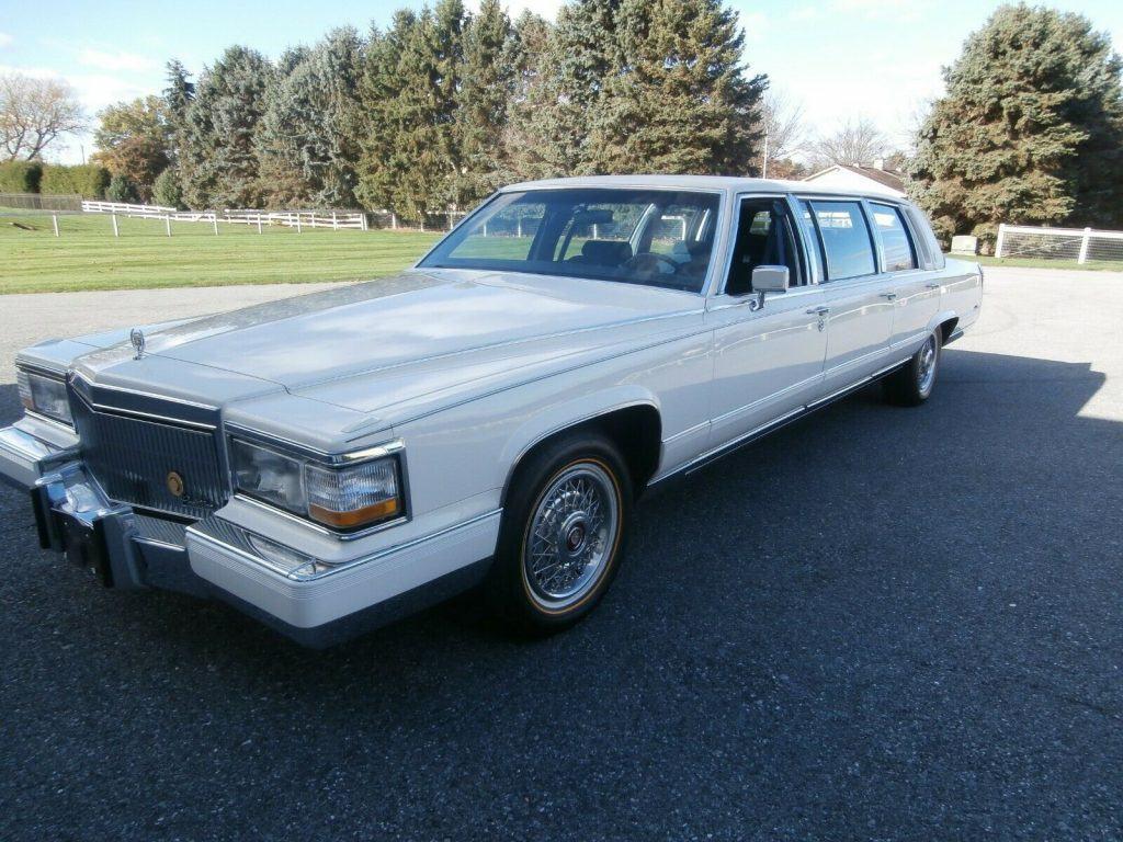 low miles 1992 Cadillac Brougham limousine
