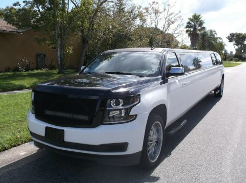 low miles 2015 Chevrolet Suburban Super Stretch Limousine for sale