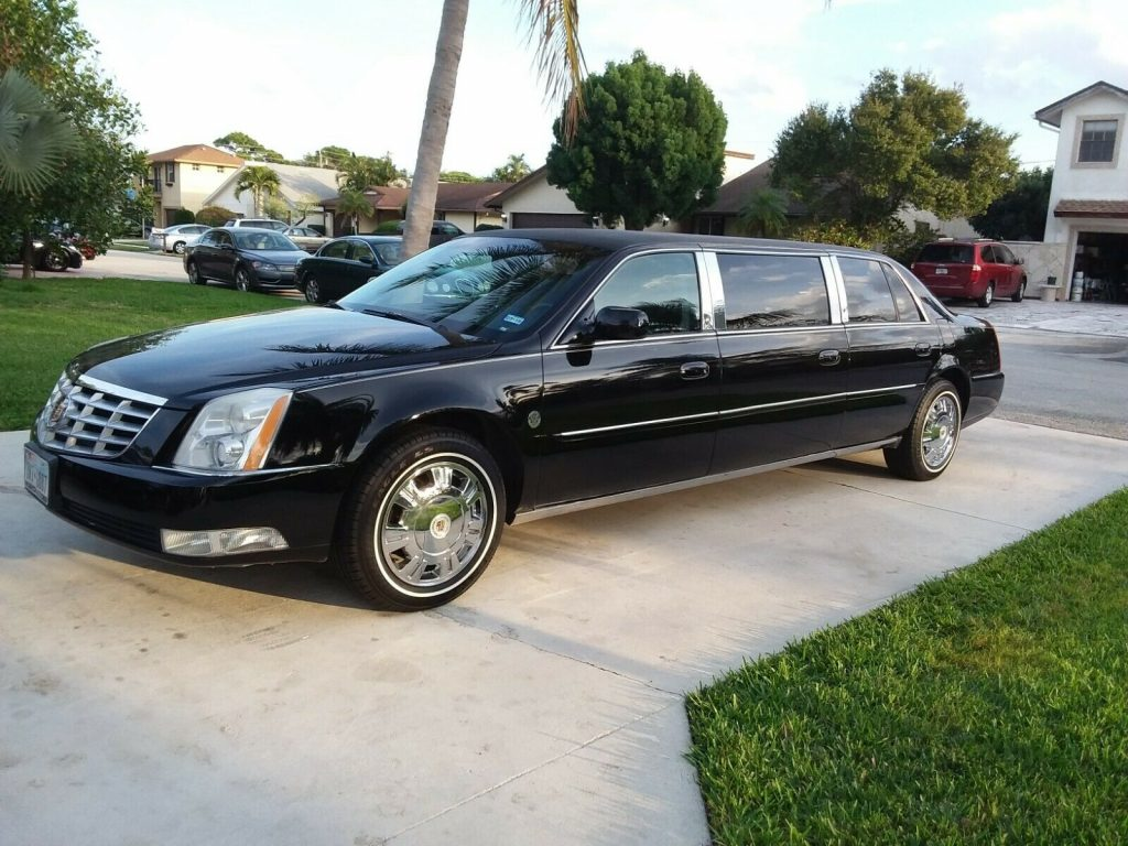 garaged 2011 Cadillac DTS limousine